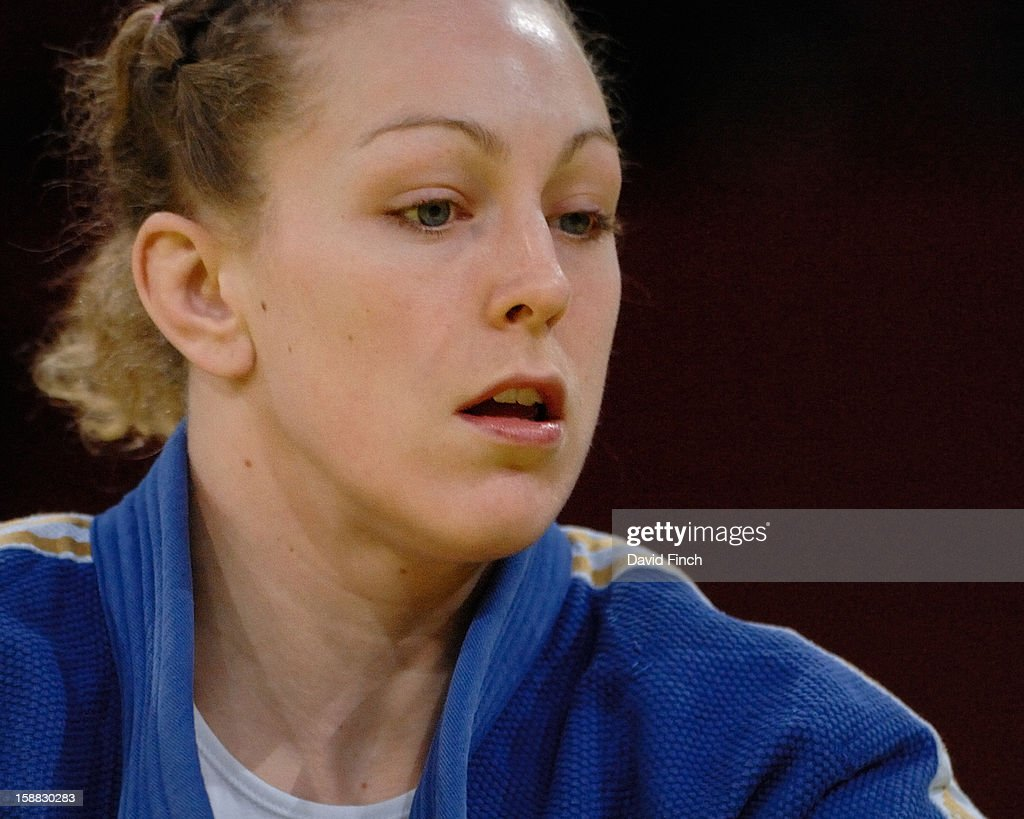 Former World silver medallist, Sally Conway of Great Britain (blue) defeated Clarisse Habricot of France by a yuko in the u70kgs eliminations at the Paris Tournament on day 2, Sunday, February 10, 2008 at the Palais Omnisports de Paris Bercy Sports Arena, Bercy, Paris, France.