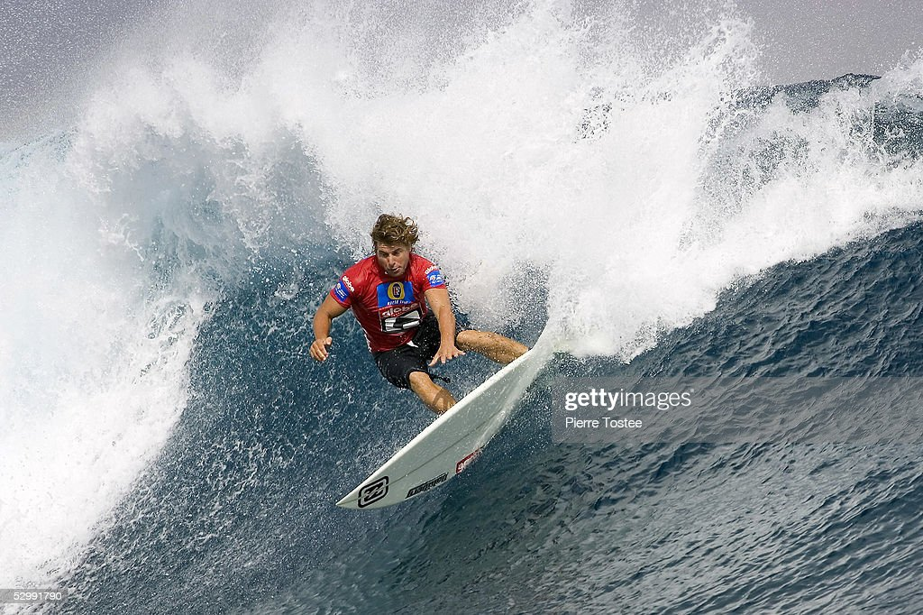 Former world surfing champion Australian Mark Occhilupo competes during round one of the Globe WCT Fiji May 28, 2005 at Tavarua Island, Fiji. Occhilupo lost out to Brazilian Paulo Moura and will now face another Brazilian in round two when he takes on Guilherme Herdy.