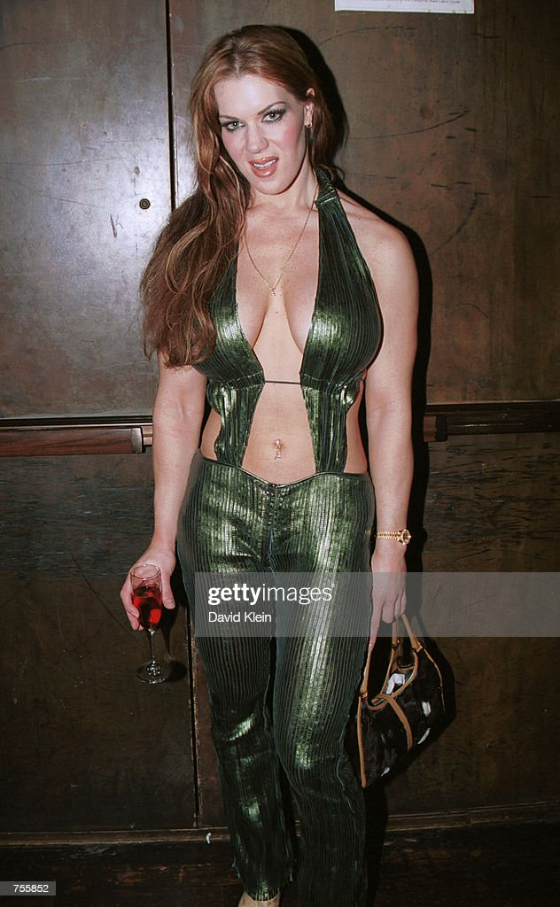 Former WWF wrestler Joanie Laurer poses at Barfly March 2 2002 in West Hollywood CA
