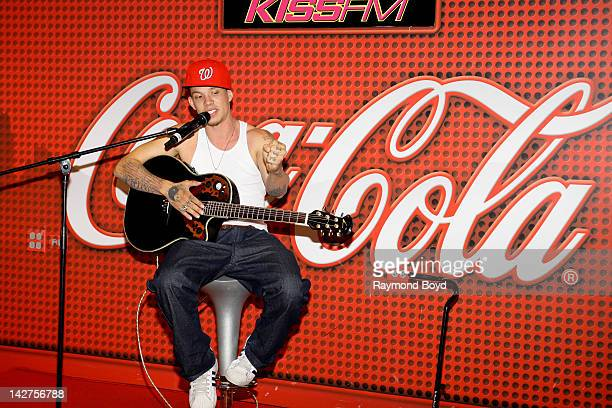 Former 'X Factor' contestant Chris Rene' chats with fans during his appearance in the KISSFM 'CocaCola Lounge' in Chicago Illinois on APRIL 04 2012