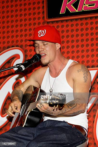 Former 'X Factor' contestant Chris Rene' performs his single 'Young Homie' during his appearance in the KISSFM 'CocaCola Lounge' in Chicago Illinois...