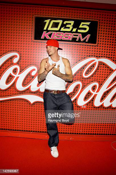 Former 'X Factor' contestant Chris Rene' poses for photos during his appearance in the KISSFM 'CocaCola Lounge' in Chicago Illinois on APRIL 04 2012