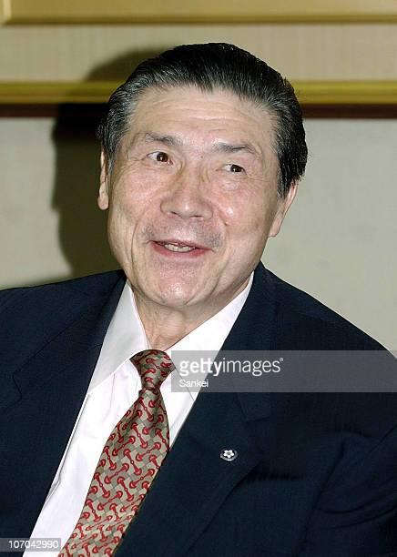 Former Yokozuna sumo grand champion Taiho whose real name is Koki Naya is seen on May 21 2005 in Tokyo Japan