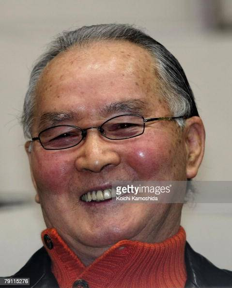 Former Yomiuri Giants manager Shigeo Nagashima attends the Nagashima Japan Dream Project at Makuhari Messe on January 19 2008 in Chiba Japan The...