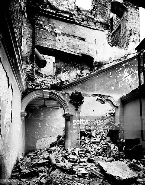 Former Yugoslavia the destruction of the interior of a house in Dubrovnik during the war in 1991