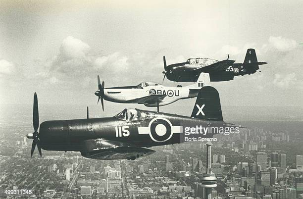 Formidable trio From top Grumman Avenger P51 Mustang Chance Vought Corsair