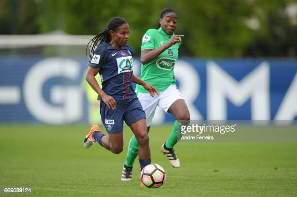 Formiga Miraildes Maciel Mota of PSG during the women's National Cup match between Paris Saint Germain PSG and AS Saint Etienne at Camp des Loges on...