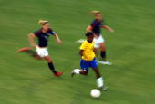 Formiga of Brazil controls the ball against the USA during the International Friendly Match between Brazil and the United States at the Torero...