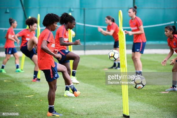 Formiga of Paris Saint Germain during a training session of Paris Saint Germain at Bougival on July 25 2017 in Paris France