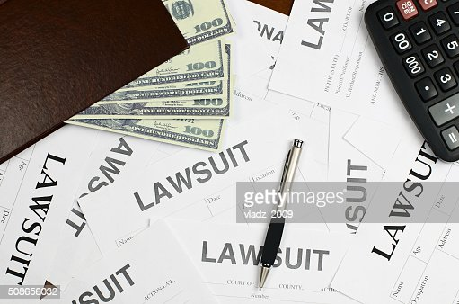 Forms lawsuit is on the table : Stock Photo