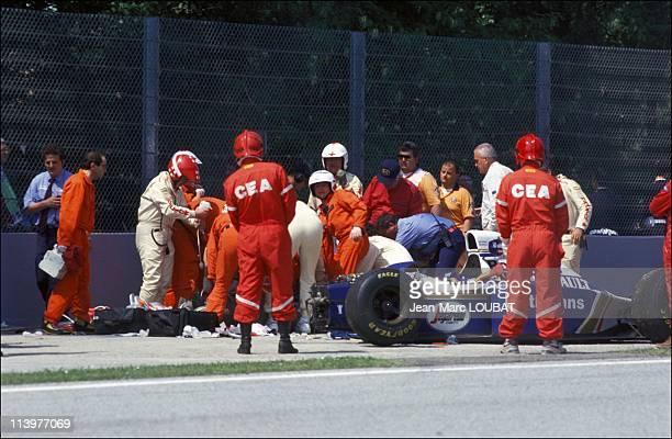 Formula 1/ accident of Ayrton Senna in Imola Italy on May 01 1994Ayrton Senna's fatal and tragic crash