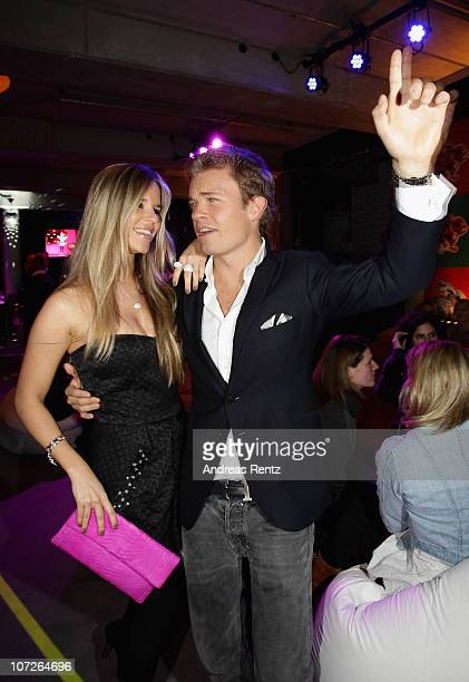 Formula 1 driver Nico Rosberg and partner Vivian Sibold attend the launch party for Thomas Sabo's Sterling Silver collection S/S 2011 at Soho House...