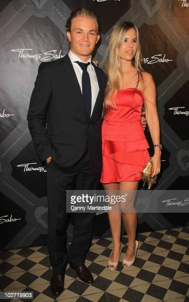 Formula 1 driver Nico Rosberg and Vivian Sibold attend the launch party for Thomas Sabo's new collection at St Mark's Church Mayfair on July 8 2010...