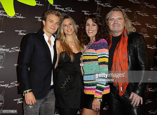 Formula 1 driver Nico Rosberg with partner Vivian Sibold LuzEnith Sabo and Thomas Sabo attend the launch party for Thomas Sabo's Sterling Silver...