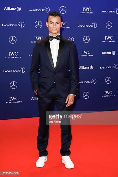 Formula 1 driver Pascal Wehrlein of Germany attends the Laureus World Sports Awards 2016 on April 18 2016 in Berlin Germany