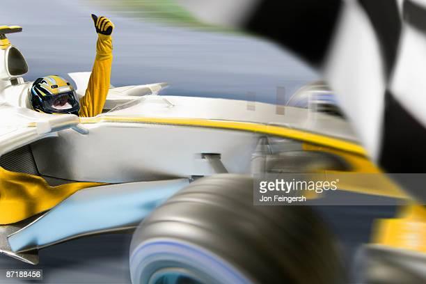 Formula 1 driver winning a race