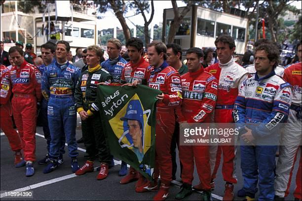 Formula 1 Grand prize in Monaco Monaco on May 15 1994Tribute to A Senna and R Ratzenberger