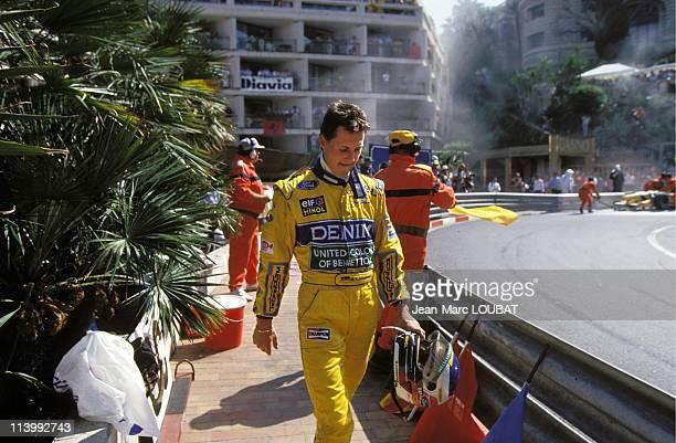 Formula 1 of Monaco Grand prix victory of Senna in Monaco Monaco on May 23 1993Michael Schumacher gives up