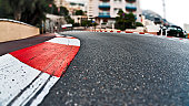 The formula 1 line at Monaco. A nice depth of fielded shot with a nice blur about the ground.