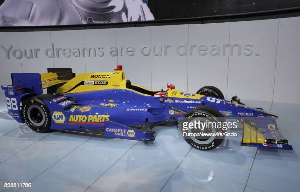 Formula 1 race car for Napa Auto Parts during the 2017 New York International Auto Show Press Day at Jacob K Javits Convention Center in New York...