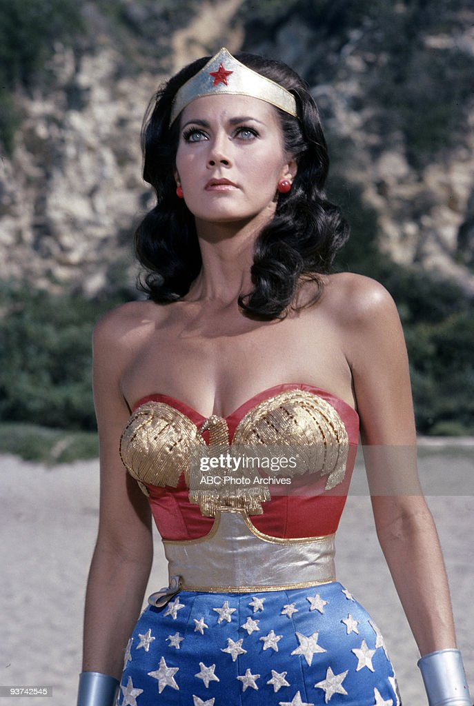 WOMAN - 'Formula 407' - Season One - 1/22/77, Diana Prince/ Wonder Woman (<a gi-track='captionPersonalityLinkClicked' href=/galleries/search?phrase=Lynda+Carter&family=editorial&specificpeople=215112 ng-click='$event.stopPropagation()'>Lynda Carter</a>) goes south of the border to recover a top secret formula stolen by the Nazis. The series was based on Charles Moulon's comic book superheroine.,