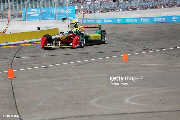 Formula E cars on the track at the former Tempelhof Airport in Berlin The premiere race of allelectric racing series Formula E takes place on the...
