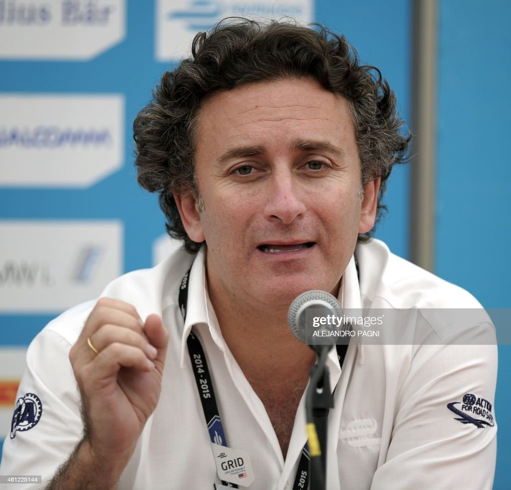 Formula E CEO's <a gi-track='captionPersonalityLinkClicked' href=/galleries/search?phrase=Alejandro+Agag&family=editorial&specificpeople=2910760 ng-click='$event.stopPropagation()'>Alejandro Agag</a> speaks during a press conference ahead of the Formula E Buenos Aires ePrix race, in Buenos Aires, on January 9, 2015. Argentina will host the fourth race of the inaugural Formula E electric car race championship on January 10.