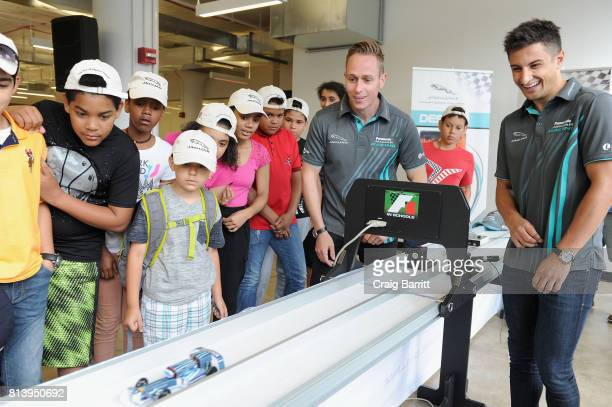 Formula E Panasonic Jaguar Racing team drivers Adam Carroll and Mitch Evans join Jaguar Land Rover in bringing Jaguar Primary School Challenge to New...