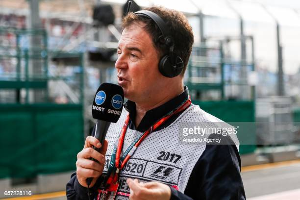 Formula one commentator and pundit James Allan working for channel 10 on Friday Free Practice during the 2017 Rolex Australian Formula 1 Grand Prix...
