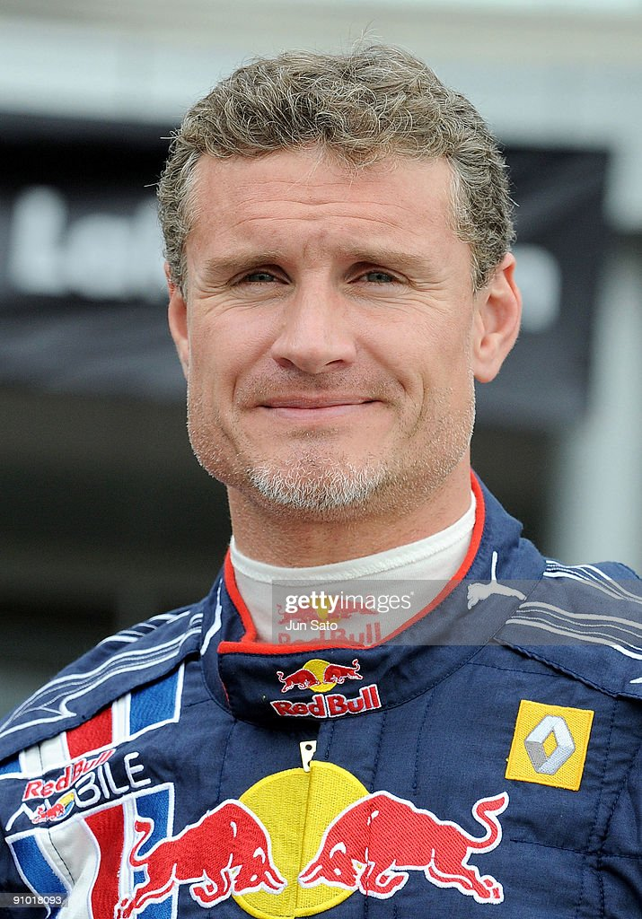 Formula One driver <a gi-track='captionPersonalityLinkClicked' href=/galleries/search?phrase=David+Coulthard&family=editorial&specificpeople=171316 ng-click='$event.stopPropagation()'>David Coulthard</a> attends 'Red Bull Racing Showrun' promotional event at Aeon Lake Town shopping center on September 22, 2009 in Koshigaya, Saitama, Japan.
