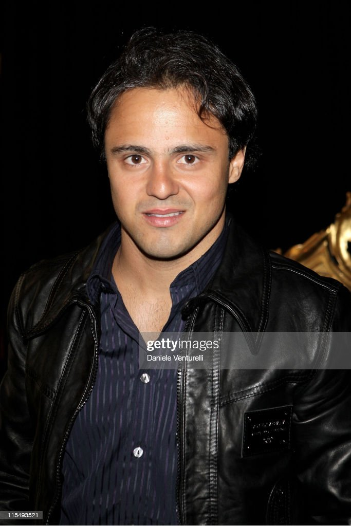 Formula One driver <a gi-track='captionPersonalityLinkClicked' href=/galleries/search?phrase=Felipe+Massa&family=editorial&specificpeople=206660 ng-click='$event.stopPropagation()'>Felipe Massa</a> attends the Dolce & Gabbana show as part of Milan Fashion Week Autumn/Winter 2009/10 Menswear on January 17, 2009 in Milan, Italy.