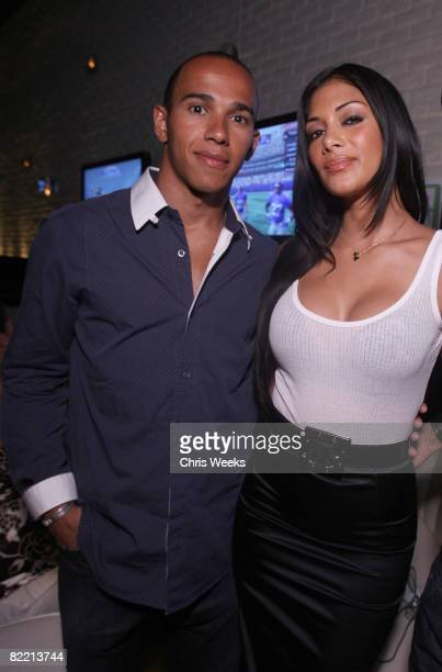 Formula One driver Lewis Hamilton and music recording artist Nicole Scherzinger of the Pussycat Dolls attend the 20th Anniversary of the Madden NFL...