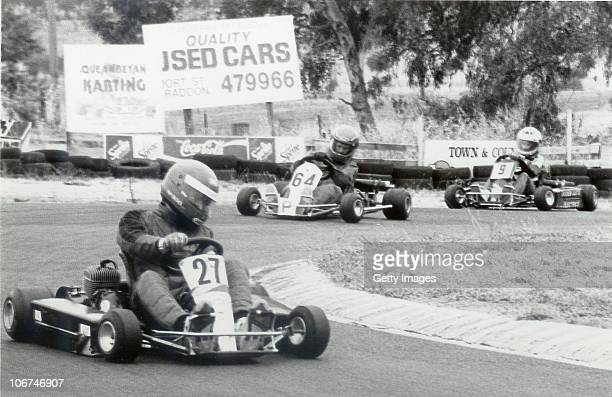 Formula One driver Mark Webber gokart racing in 1991 in Australia Mark Webber of Red Bull Racing competes in the championship deciding race of the...