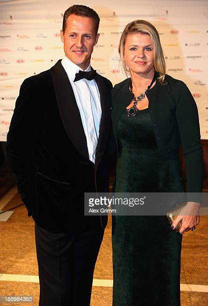 Formula One driver Michael Schumacher and his wife Corinna pose during the 31 Sportpresseball at Alte Oper on November 10 2012 in Frankfurt am Main...