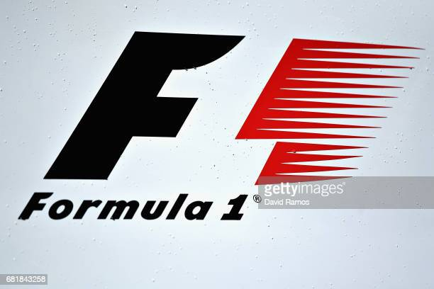 Formula One logo in the Paddock during previews for the Spanish Formula One Grand Prix at Circuit de Catalunya on May 11 2017 in Montmelo Spain