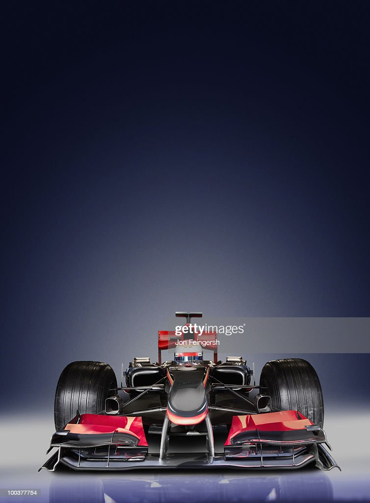Formula One Race Car on Blue : Stock Photo