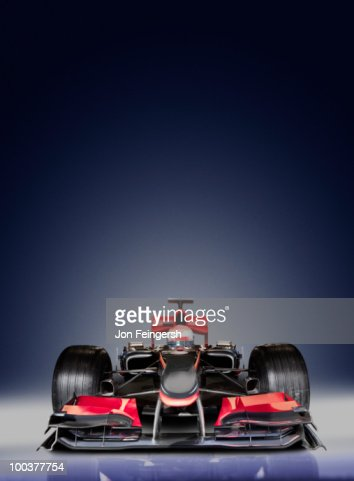 Formula One Race Car on Blue