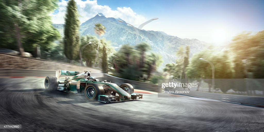 formula one racing car on the track stock photo getty images. Black Bedroom Furniture Sets. Home Design Ideas