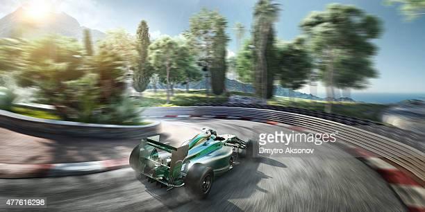 Formula One Racing Car auf der Strecke