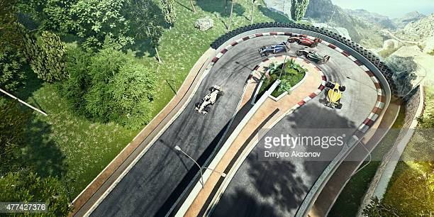 Formula One Racing Cars on the track
