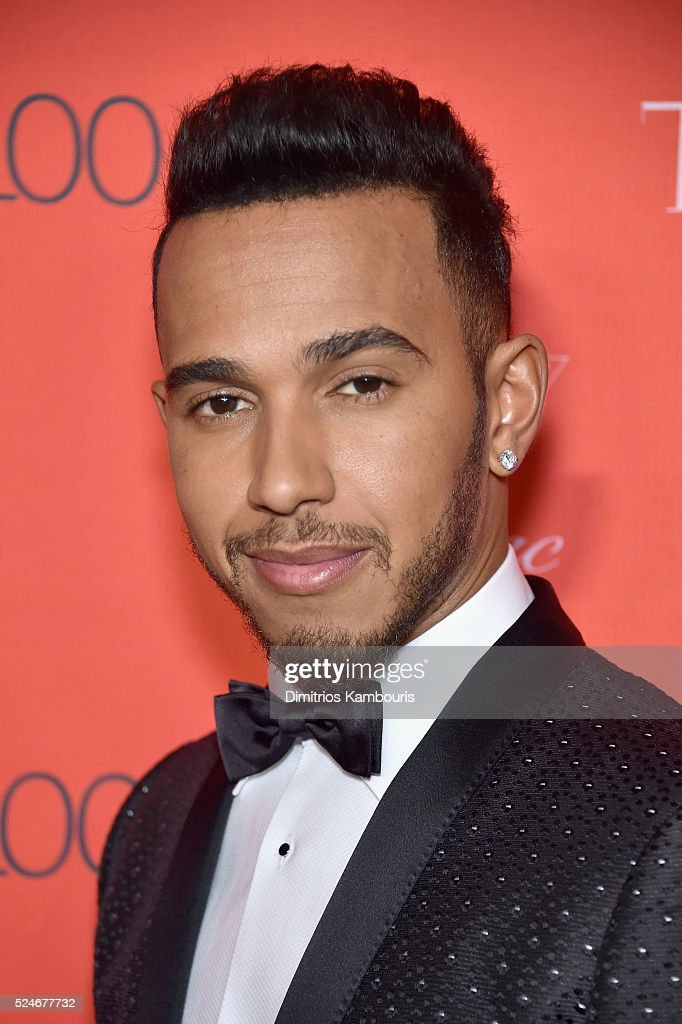 Formula One racing driver Lewis Hamilton attends 2016 Time 100 Gala, Time's Most Influential People In The World red carpet at Jazz At Lincoln Center at the Times Warner Center on April 26, 2016 in New York City.