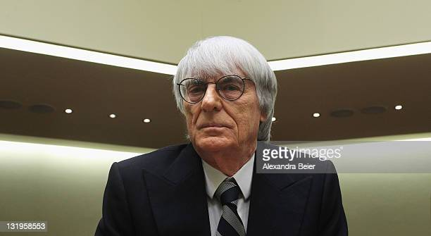 Formula One supremo Bernie Ecclestone arrives as witness for the trial against former CEO of Bayerische Landesbank and Formula One chairman Gerhard...