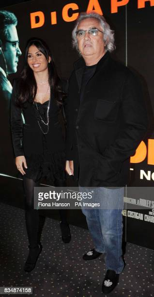 Formula One team boss Flavio Briatore and his new wife Elisabetta Gregoraci at the UK film premiere of 'Body of Lies' at the Vue West End in central...
