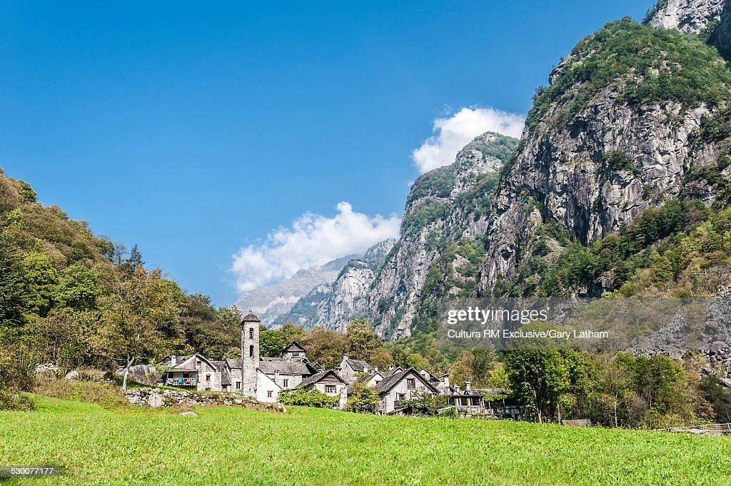 Foroglio Village, Side Valley, Maggia Valley, Ticino, Switzerland