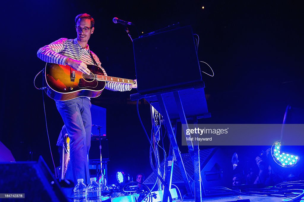 Forrest Kline of Hellogoodbye performs on stage at Key Arena on October 15, 2013 in Seattle, Washington.