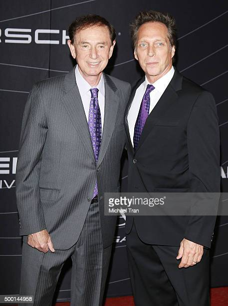 Forrest Lucas and William Fichtner arrive at the Petersen Automotive Museum grand reopening gala held on December 5 2015 in Los Angeles California