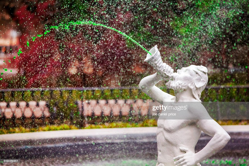 Forsyth Fountain, Savannah, Georgia, America