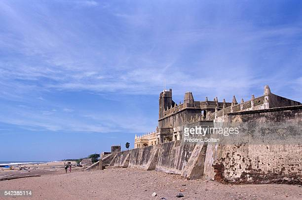 Fort Dansborg built by the Danish in Tranquebar The city was founded by the Danish East India Company in 1620 | Location Tranquebar Tamil Nadu India