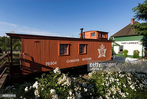 Fort Langley, train station and caboose
