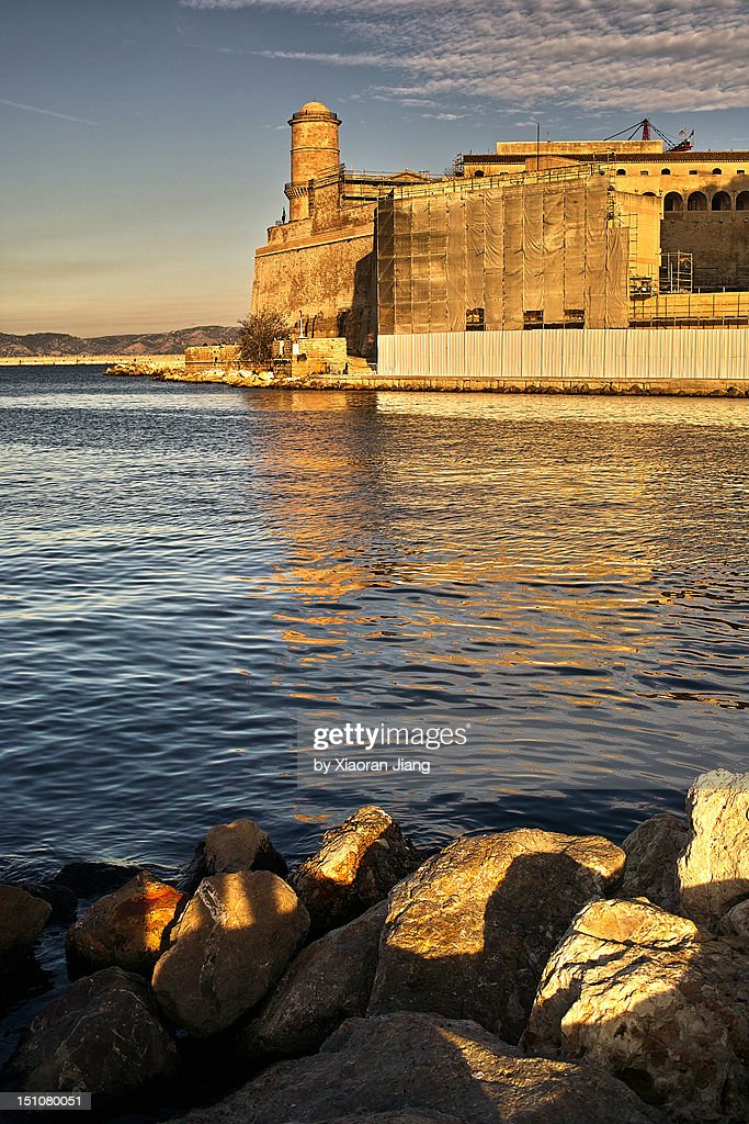 Fort Saint-Jean in Marseille : Stock Photo